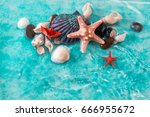 vacation concept with starfish  ... | Shutterstock . vector #666955672
