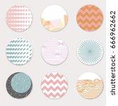 vector art of round label... | Shutterstock .eps vector #666962662