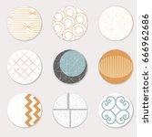 vector art of round label... | Shutterstock .eps vector #666962686