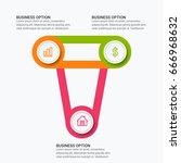 modern infographic paper... | Shutterstock .eps vector #666968632