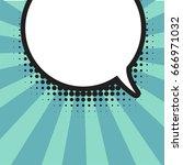 blank comic balloon template.... | Shutterstock .eps vector #666971032