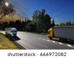 trucks transportation | Shutterstock . vector #666972082