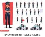 police character vector design | Shutterstock .eps vector #666972358