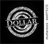 dollar written on a blackboard | Shutterstock .eps vector #666975172
