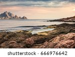 Seascape With Rocky Coast And...