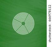 diagram outline icon. imitation ...