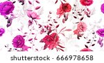 tender wide vintage seamless... | Shutterstock .eps vector #666978658