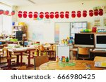 elementary classroom  back to... | Shutterstock . vector #666980425