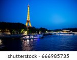 paris  france june 1  2016  ... | Shutterstock . vector #666985735