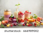 clean eating ideas for... | Shutterstock . vector #666989002