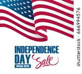independence day sale banner... | Shutterstock .eps vector #666994576