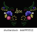 vector design for collar t... | Shutterstock .eps vector #666995512