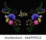 vector design for collar t... | Shutterstock .eps vector #666995512