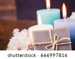 hygiene soap bar with flower... | Shutterstock . vector #666997816