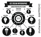 ice cream infographic banner... | Shutterstock .eps vector #666998242