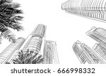 dubai. united arab emirates.... | Shutterstock .eps vector #666998332