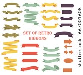 ribbon banners set. beautiful... | Shutterstock .eps vector #667001608