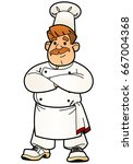 cartoon chef. from a large set... | Shutterstock .eps vector #667004368