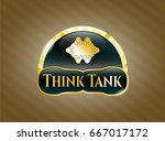 gold badge with business... | Shutterstock .eps vector #667017172