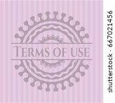terms of use retro pink emblem
