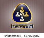 shiny emblem with business... | Shutterstock .eps vector #667023082