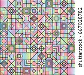 seamless abstract geometric... | Shutterstock .eps vector #667028782