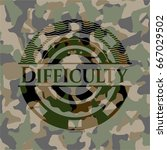 difficulty camouflage emblem | Shutterstock .eps vector #667029502