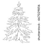christmas tree  decorative... | Shutterstock .eps vector #667029856