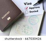 visa and passport to  approved... | Shutterstock . vector #667030426