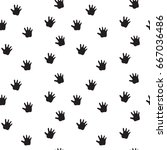 simple pattern with hands... | Shutterstock .eps vector #667036486