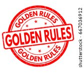 golden rules sign or stamp on... | Shutterstock .eps vector #667036912