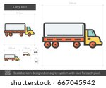 lorry vector line icon isolated ... | Shutterstock .eps vector #667045942