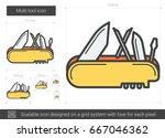 multi tool vector line icon...   Shutterstock .eps vector #667046362