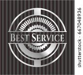 best service silvery shiny badge | Shutterstock .eps vector #667048936