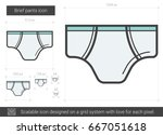 brief pants vector line icon... | Shutterstock .eps vector #667051618