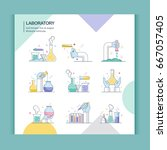 icons of science and laboratory  | Shutterstock .eps vector #667057405