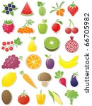 food icons. vector illustration.... | Shutterstock .eps vector #66705982