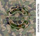 holiday deals camo emblem | Shutterstock .eps vector #667067956
