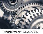 engine gear wheels  industrial...   Shutterstock . vector #667072942