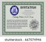 green vintage invitation... | Shutterstock .eps vector #667074946