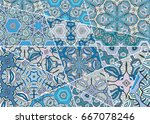vector patchwork pattern.... | Shutterstock .eps vector #667078246