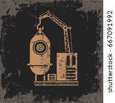 industry design on grunge... | Shutterstock .eps vector #667091992