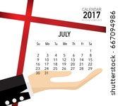 2017 calendar planner vector... | Shutterstock .eps vector #667094986