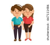 cartoon couple icon | Shutterstock .eps vector #667111486