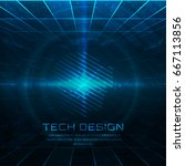 abstract technology background... | Shutterstock .eps vector #667113856