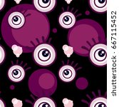 pattern eye graphic cartoon... | Shutterstock .eps vector #667115452