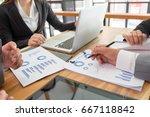 business team meeting. photo... | Shutterstock . vector #667118842