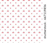 seamless pattern of cherries on ... | Shutterstock .eps vector #667119856