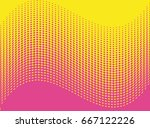 comic background. halftone... | Shutterstock .eps vector #667122226