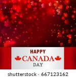 happy canada day background... | Shutterstock .eps vector #667123162